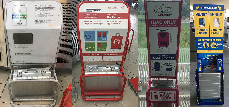 Xiaomi Aluminum Suitcase measured for Lufthansa, Austrian, wizzair & Ryanair