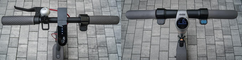Xiaomi M365 Scooter vs Ninebot by Segway ES2 - Handlebar