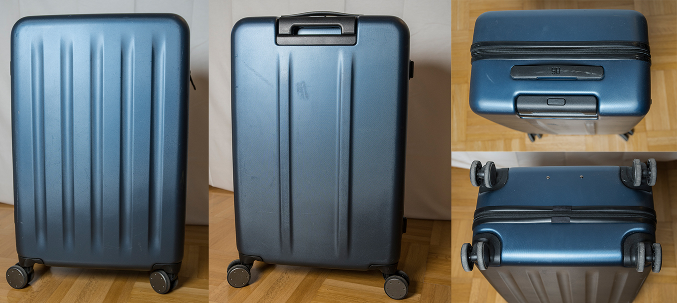 "24"" Xiaomi Suitcase after 7 flights & a 3.000km ride on a pickup truck"