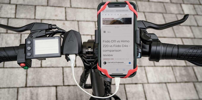 "ADO A20 20"" folding e-bike review - USB port for phone charger"