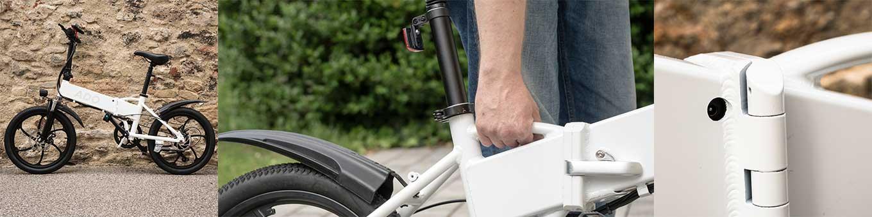 """ADO A20 - 350W 35 km/h 20"""" folding e-bike - - Frame & Design - Very useful handle grip"""