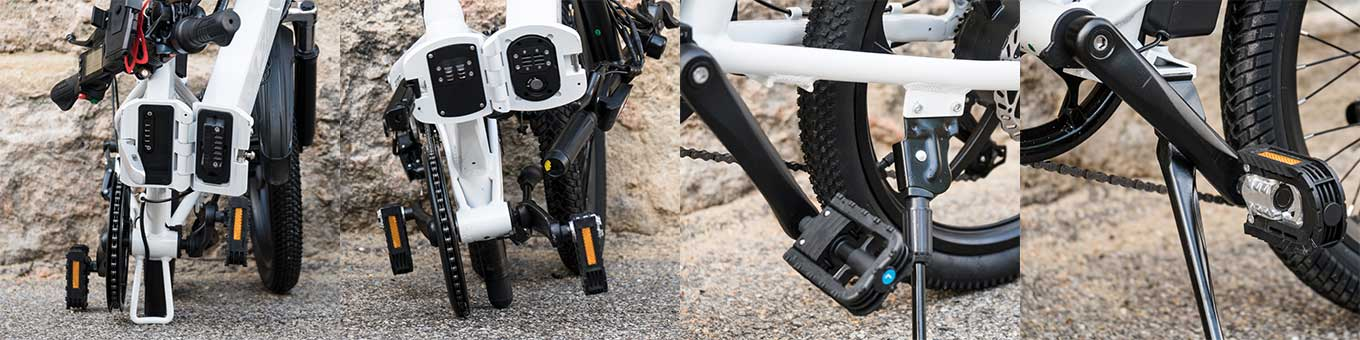 ADO A20 vs Xiaomi HIMO Z20 e-bike review - Stand when folded and unfolded