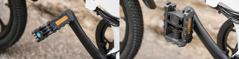 ADO A20 vs HIMO Z20 - comparison review - flip-up Pedals