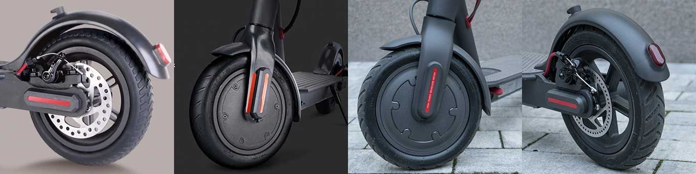 Alfawise M1 vs Xiaomi M365 - Brakes (front: electric eABS / back: mechanic disk)
