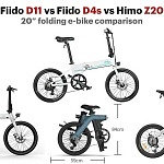Fiido D11 vs Fiido D4s vs Himo Z20 – 20″ folding e-bike comparison