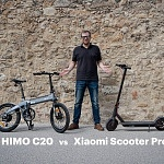 Folding e-Bike or e-Scooter? Xiaomi Scooter Pro vs Himo C20
