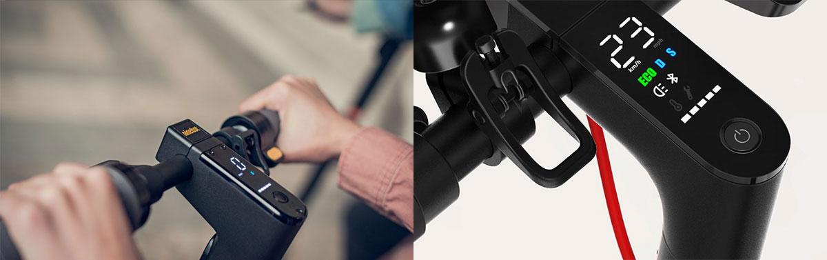 Ninebot Max vs Xiaomi Scooter Pro M365 - Display