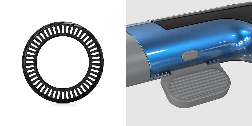 Unagi E450 review - tires & brake lever