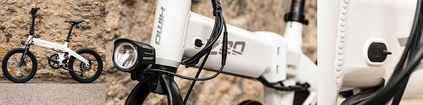 Xiaomi HIMO Z20 review - Frame & Design - BMX design, Cables run inside the frame, ports are covered