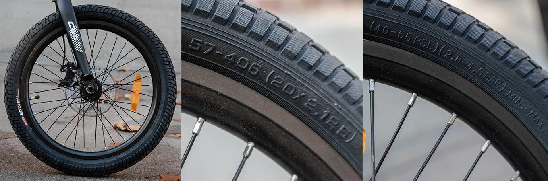 """Xiaomi Himo C20 Review - 20"""" Tires (40-65 psi) (2.8-4.5 bar)"""