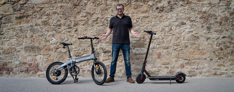 Folding e-bike vs e-scooter (Himo C20 vs Xiaomi Scooter Pro)