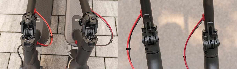 Folding Mechanism: Xiaomi Scooter Pro (left) vs Xiaomi M365 (right)