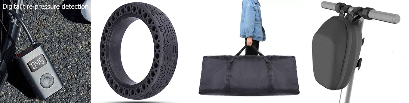 Accessories for Xiaomi Scooter Pro / M365: Xiaomi Air Pump, Honeycomb Tire, Scooter Bags