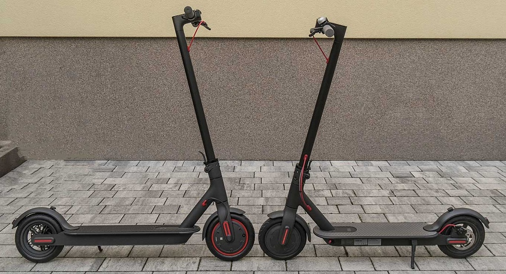 Xiaomi Scooter Pro is a bit larger than Xiaomi M365