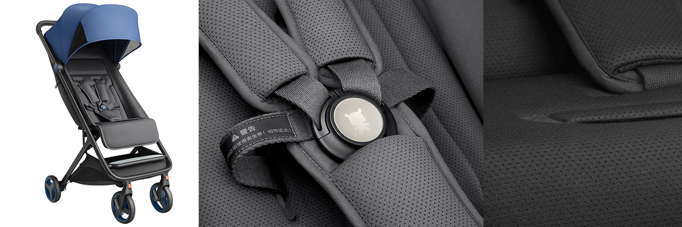 Xiaomi Stroller - Skin friendly, antibacterial fabric; 5-point seat belt