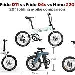 Fiido D11 vs Fiido D4s vs Himo Z20 – 20″ folding e-bike comparison